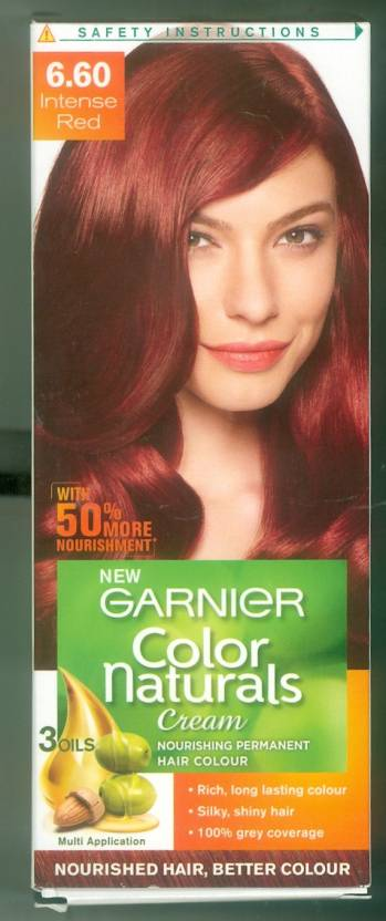 Garnier Garnier color naturals cream 6.60 intense red Hair Color ...