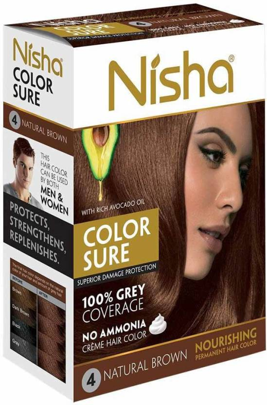 Nisha Color Sure Cream 40 Gm Hair Color
