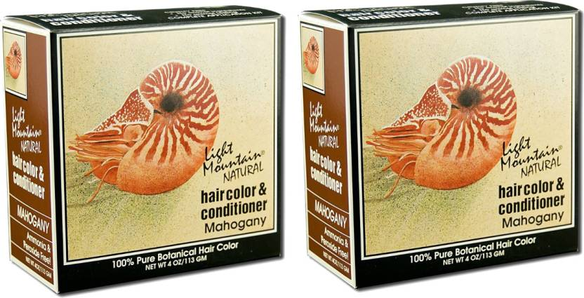 Light Mountain Natural and Conditioner Kit(Pack of 2) Hair Color