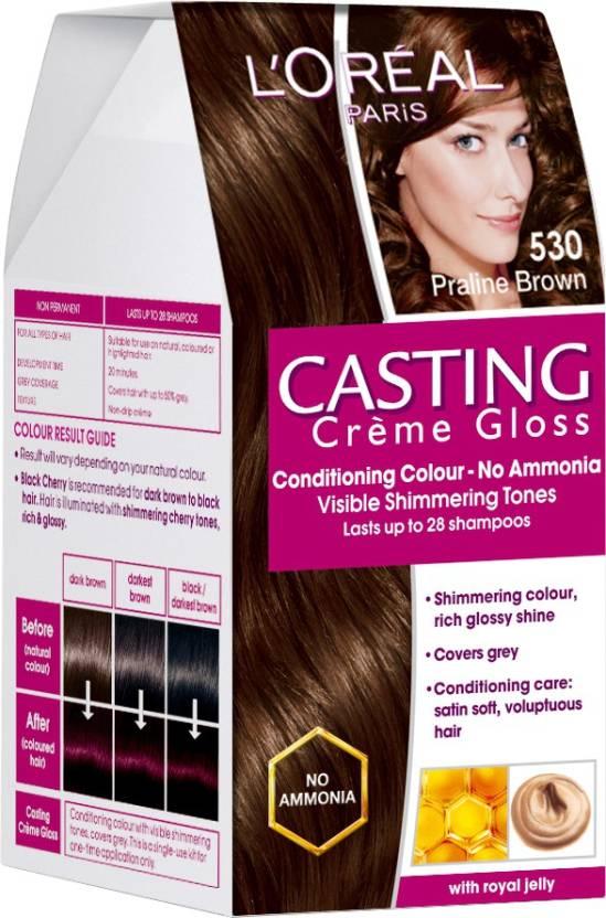 4d2798ede L Oreal Paris Casting Cream Gloss Hair Color (Praline Brown - 530)