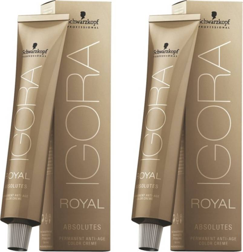 Schwarzkopf Igora Royal Cream Absolute Brown Pack Of 2 Hair Color