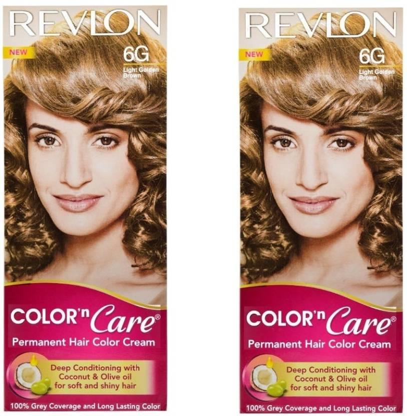 Revlon Color N Care Permanent Hair Color Cream Light Golden Brown