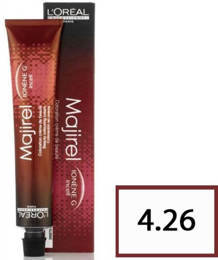 L\'Oreal Paris Majirel Hair Coloring Cream 4.26 Brown Red Iridescent ...