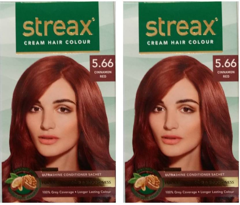 Streax Cream Cinnamon Red 566 Pack Of 2 Hair Color Price In