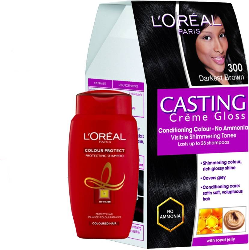 Loreal Paris Casting Creme Gloss Darkest Brown 300 With Offer