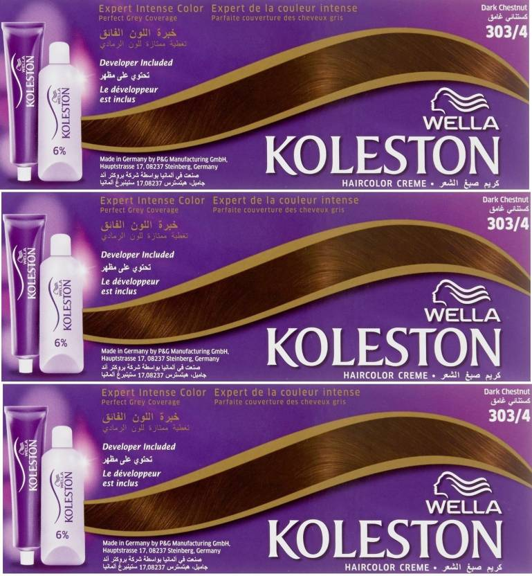 Wella Professionals Koleston 3034 Combo Pack Of 3 Hair Color