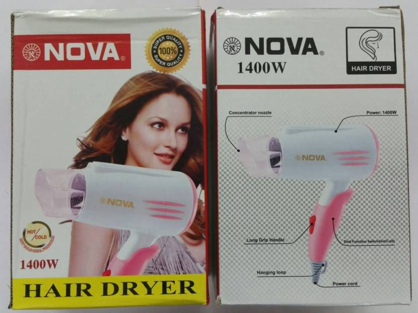 Nova 1400W Foldable Hair Dryer – Hot & Cold