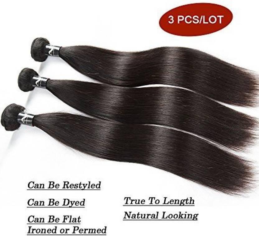 Nefertiti Hair Nefertiti Brazilian Straight Extensions 3 Bundles 100