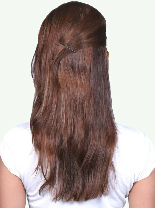 Krome Mocha Brown Single Remy Bleahed Stitched Human Extensions 12