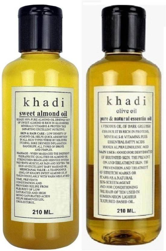 Khadi Pure SWEET ALMOND OIL & OLIVE ESSENTIAL OIL Hair Oil