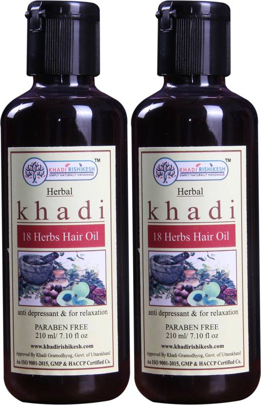 Khadi Rishikesh Herbal 18 Herbs Pack of 2 Each - Hair Oil