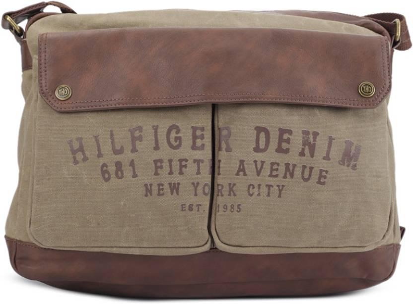 Buy Tommy Hilfiger Sling Bag Khaki Brown Online Best Price In