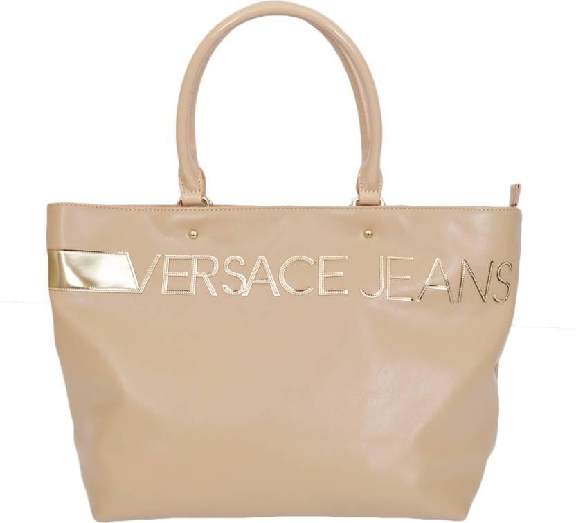 c8695f1ef Buy Versace Jeans Tote Beige Online @ Best Price in India | Flipkart.com