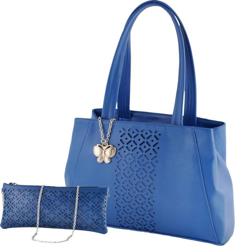 Upto 71% Off On Handbags By Flipkart | Butterflies Hand-held Bag (Blue) @ Rs.1,999