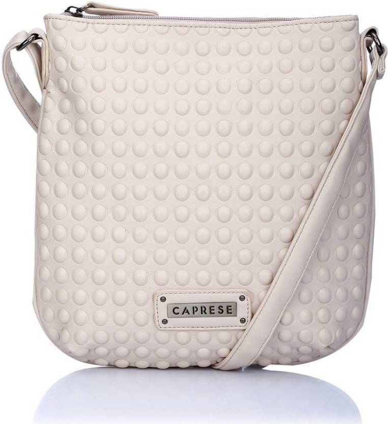 cce9e618612 Buy Caprese Sling Bag BEIGE Online   Best Price in India