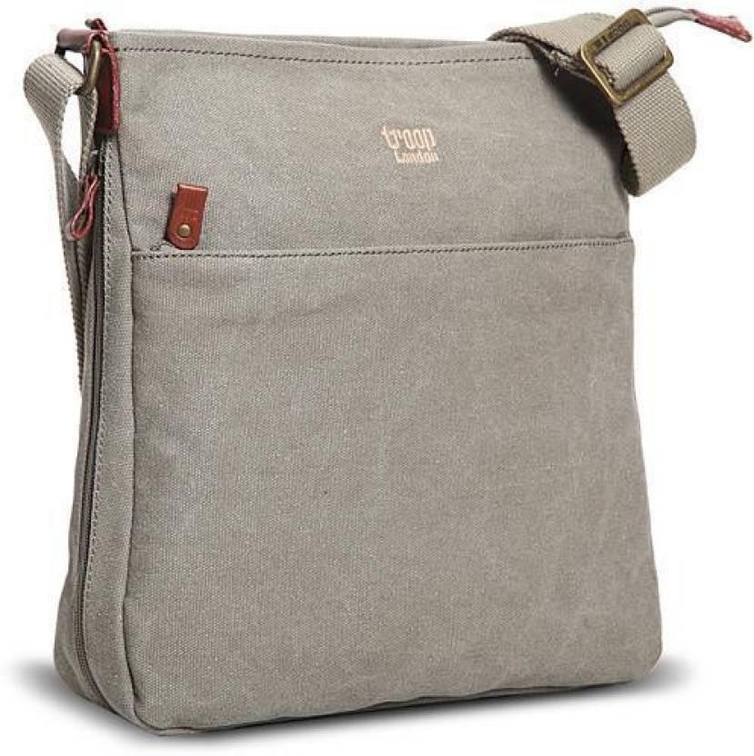 121d4bf772b Buy Troop London Messenger Bag Khaki Online   Best Price in India ...