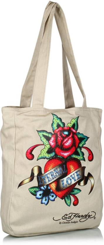 Buy Ed Hardy Tote Beige Online   Best Price in India  bd7b4142fdd1e