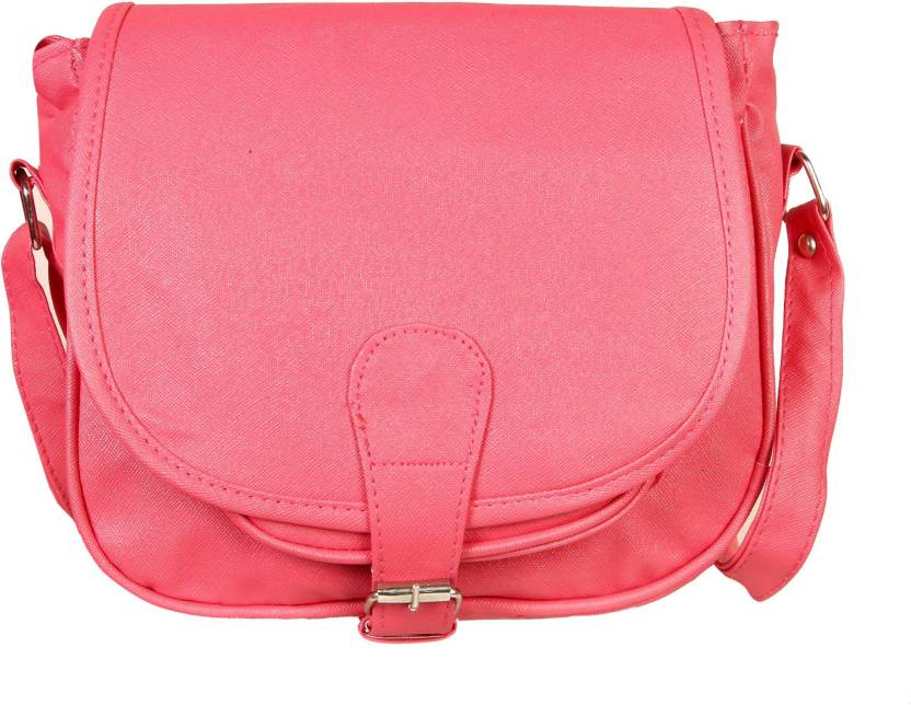 4e7f812ac88 Louise Belgium Women Casual Pink Rexine Sling Bag Pink-666 - Price in India  | Flipkart.com