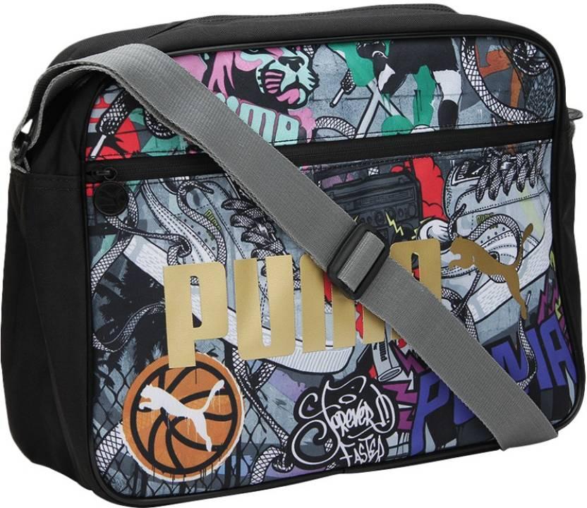 f287723c07d9 Buy Puma Messenger Bag puma black-graffiti Online   Best Price in India