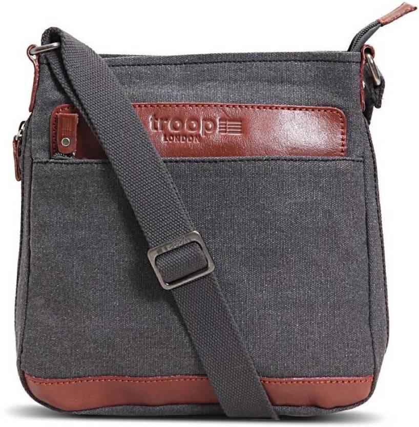 Buy Troop London Messenger Bag Black Online @ Best Price in