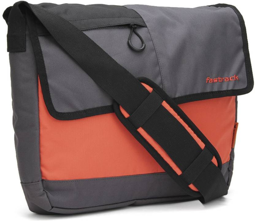 Fastrack Men Casual Grey PU Sling Bag Grey - Price in India ... 3308fc3cb2bd2