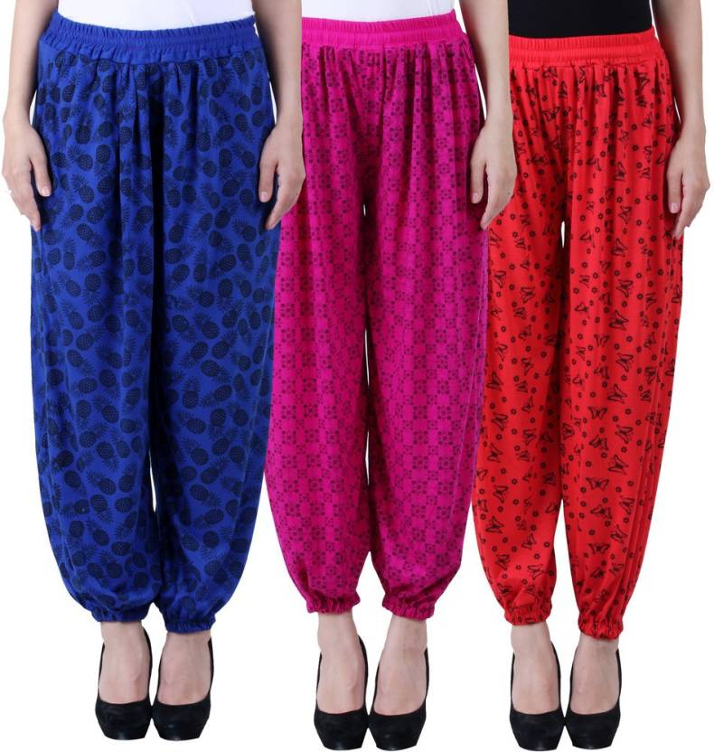 68b082f6a5a NumBrave Printed Viscose Women s Harem Pants - Buy Blue   Purple   Red  NumBrave Printed Viscose Women s Harem Pants Online at Best Prices in India  ...