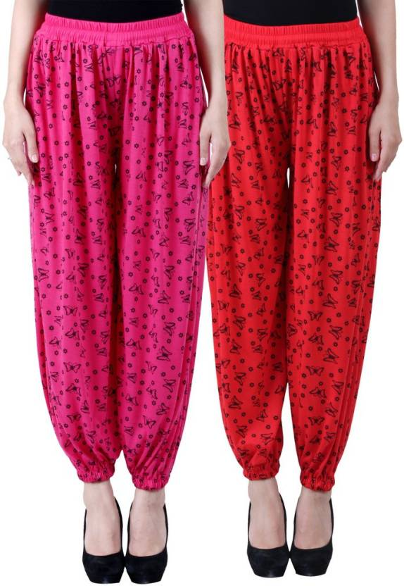931bccc8c9a NumBrave Printed Viscose Women s Harem Pants - Buy Pink   Red NumBrave  Printed Viscose Women s Harem Pants Online at Best Prices in India