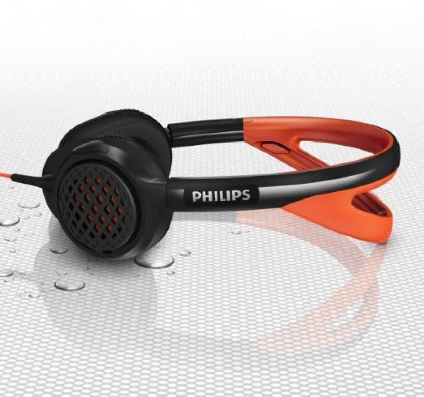 Philips Actionfit Shq5200 On-Ear Sports Headband Headphones, Black/ Wired Headphones