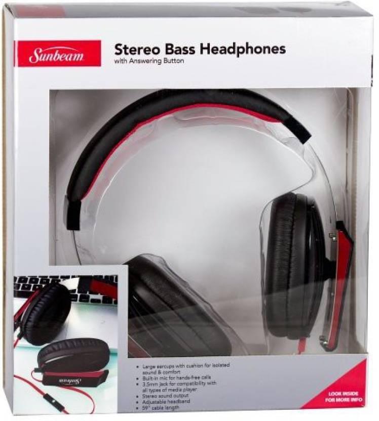 de41d476ba0 Sunbeam 72-Sb650 Stereo Big Bass Headphones With Microphone Headphone  (Multicolor)