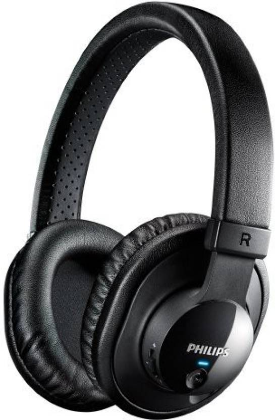 46048356571 Philips Shb7150Fb/27 Wireless Bluetooth Headphones With Microphone (Black)  Headphone (Black)