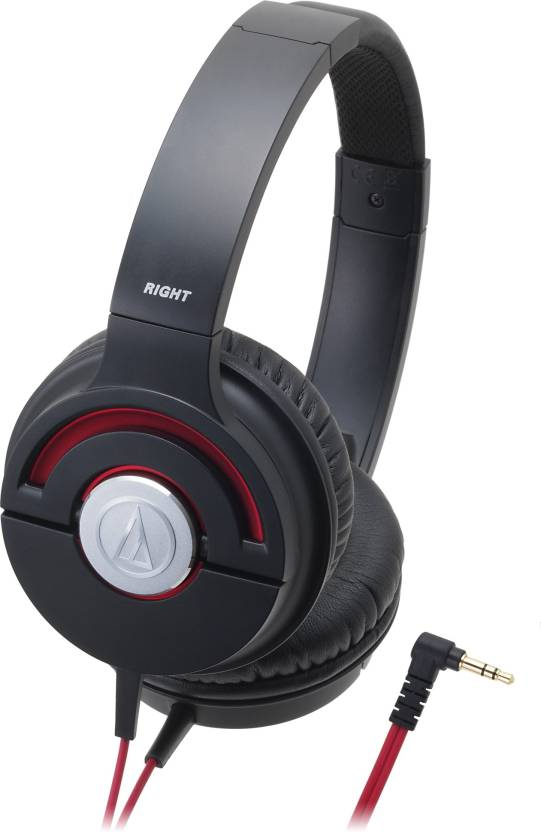 Audio Technica Ath-Ws55x Blackred Wired Headphone