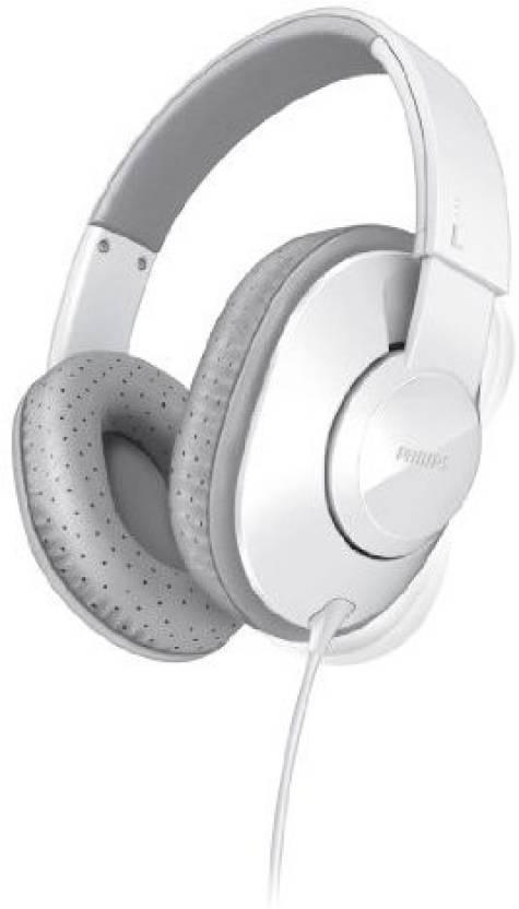 Philips Shl4500Wt Frame Headphones For Dynamic Bass 40 Mm