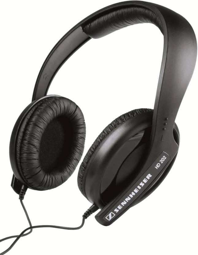 Sennheiser HD 202 II Dynamic Stereo Wired Headphones  (Black, Over the Ear)