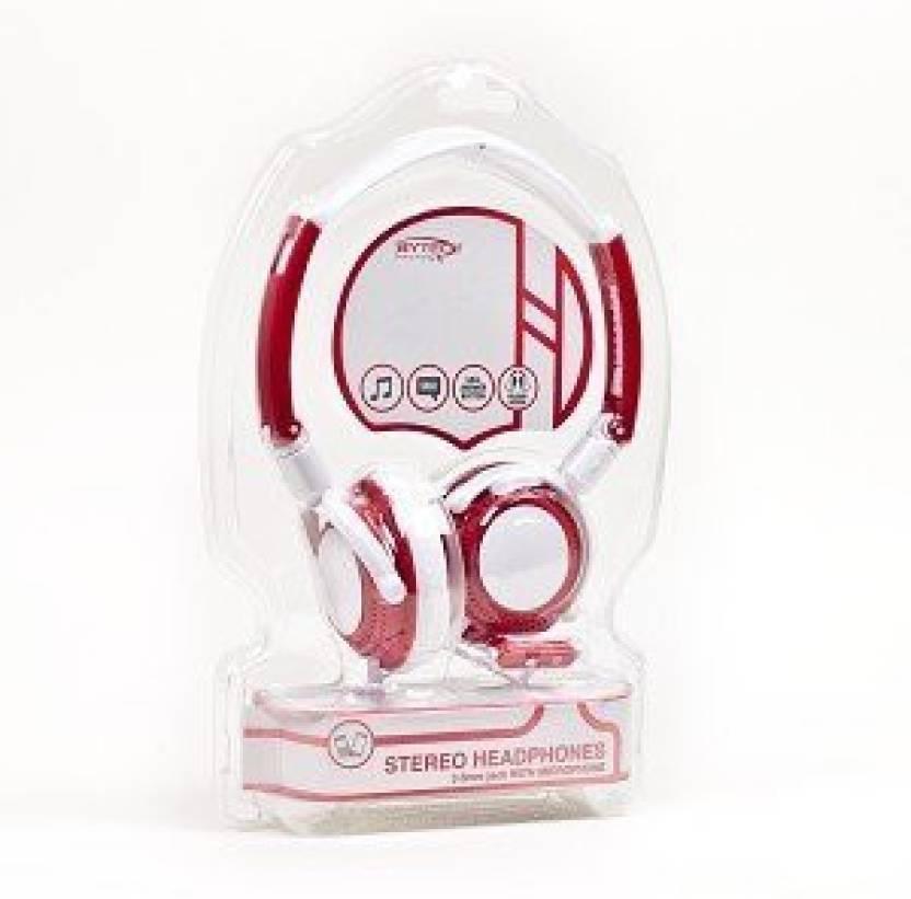 7a734d6c20d Bytech Hdst-3001 Stereo Headphones W/Inline Microphone & 3.5Mm Jack  (/Black) Headphone (Red)