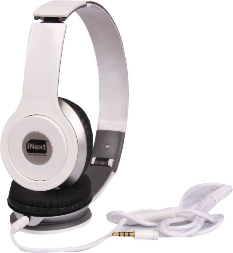 Inext IN 925U Wired Headset without Mic White, On the Ear