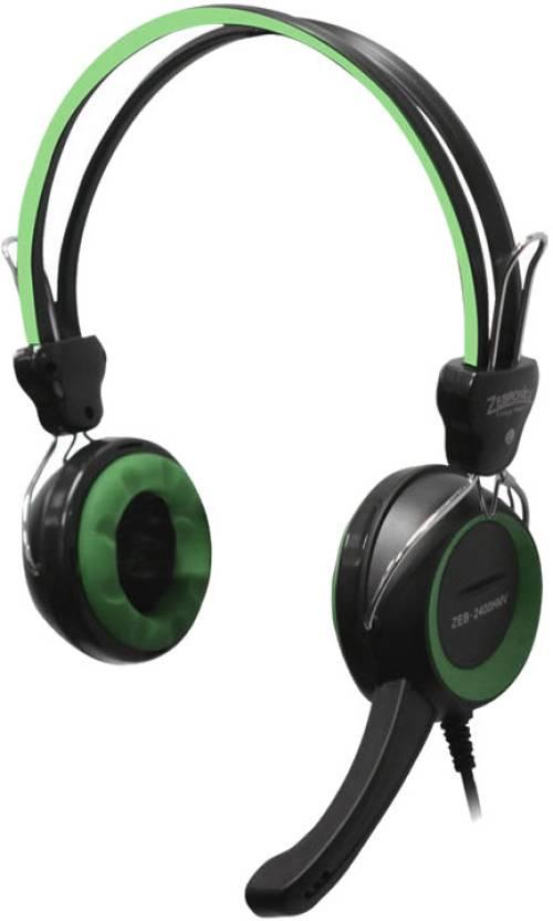 Zebronics 2400 HMV Wired Headset With Mic