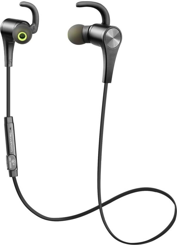 SoundPEATS Soundpeats headphone Q12, Black Wired Headphone (Black, In the Ear)
