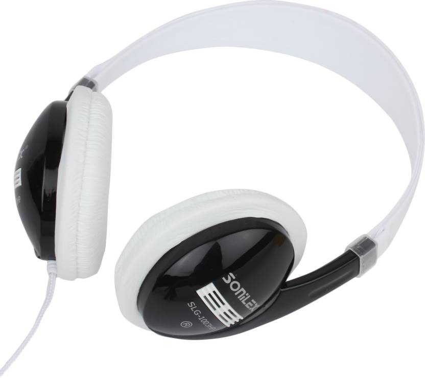Sonilex 1003 HP Wired Headset without Mic White, Black, On the Ear