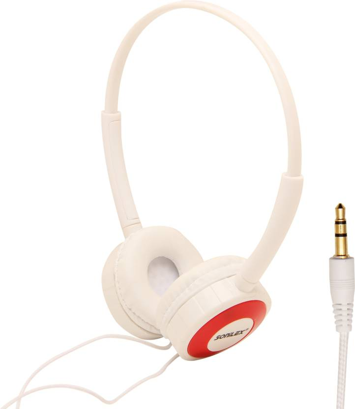 Mobile sonilex headphoneSLG 1011HP Headphone Red, White, Over the Ear