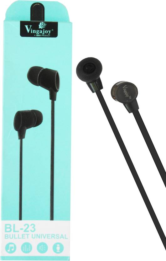 d75037c9e2d Vingajoy BL-23 Bullet Universal Earphone For All Android Mobile Headphone  (Black, In the Ear)