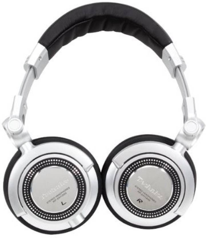 Technics Rp-Dh1250E-S Professional Dj Headphones With In Line Mic For Mobile Headphone (Black)