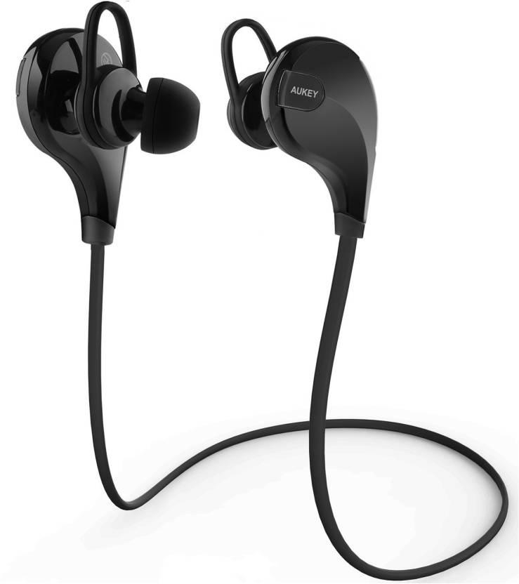 Aukey EP-B4 Headphone (Black, In the Ear)