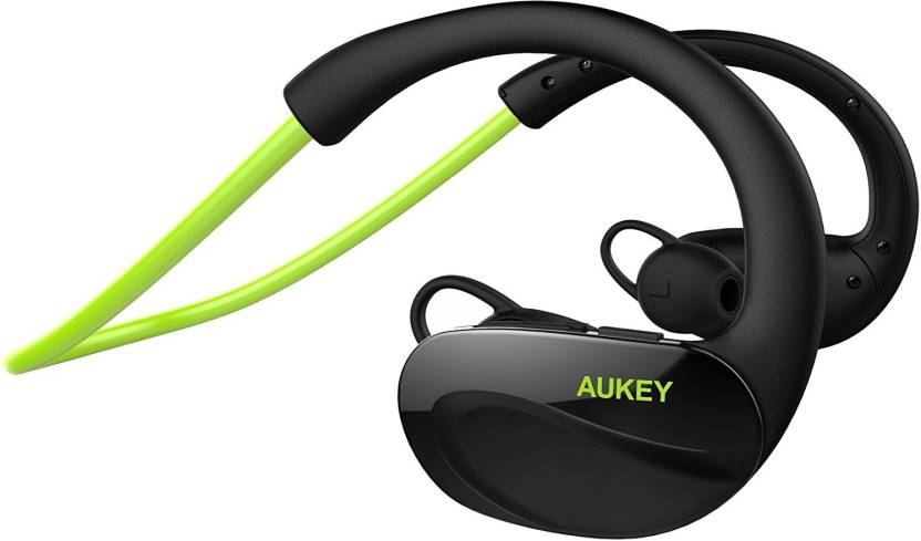 54e9541cf67 Aukey 4.1 Sport Earbuds Wired, Bluetooth Headset with Mic (Green, In the  Ear)