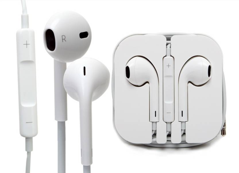 9to9 Shopee Competible For iPhone 5 In Ear Wired Earphones With Mic White Headphone