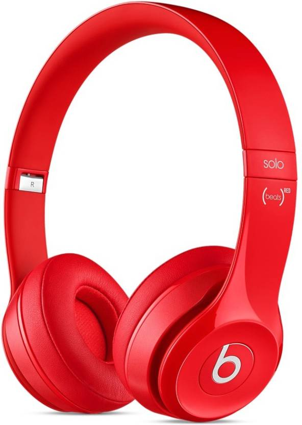 Beats Headphones From Rs. 7900 By Flipkart | Beats Solo2 Wired & Wireless Bluetooth Headset With Mic  (Red) @ Rs.10,199