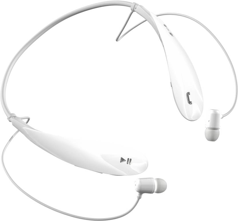 ffb0035a9b1 SharnamEmall Tone Ultra ANC apt X Wired, Bluetooth Headset with Mic (White,  In the Ear)