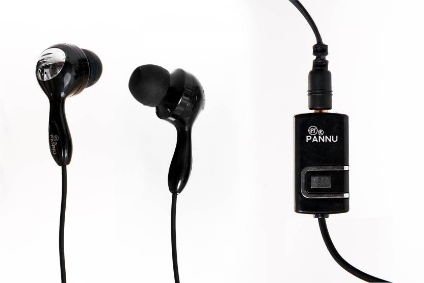 02e16bd7405 Pannu Blister Black Earphone N95 Wired Headset with Mic (Black, In the Ear)