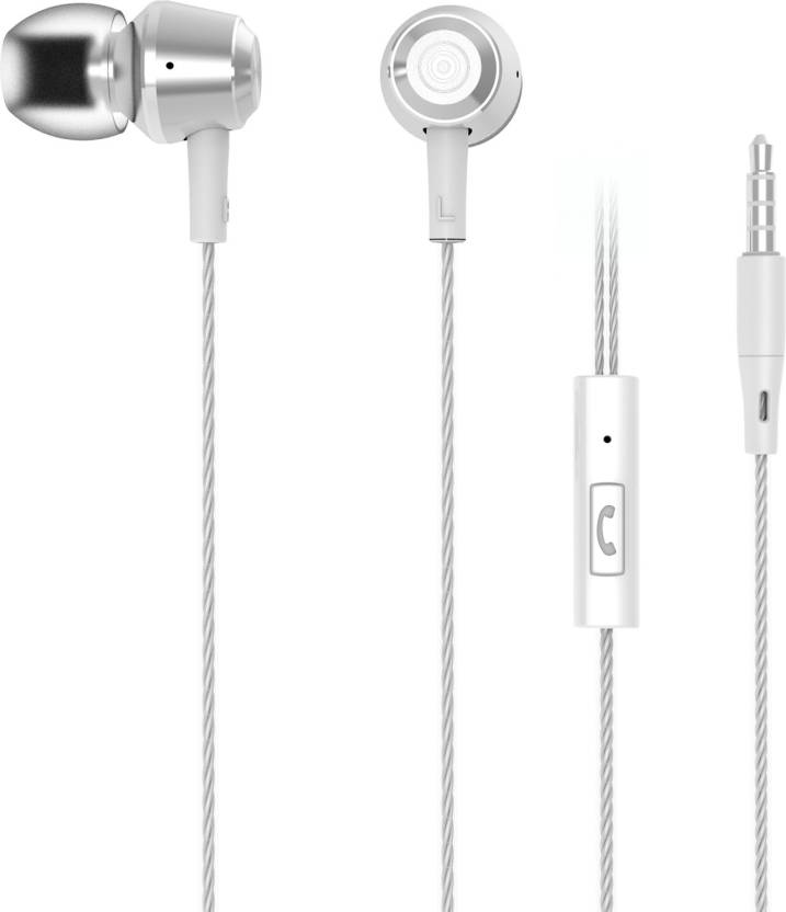 Upto 50% Off On Headphones By Flipkart | iVoltaa 1.2 Mtr long Metal Wired Headset With Mic  (Silver) @ Rs.449