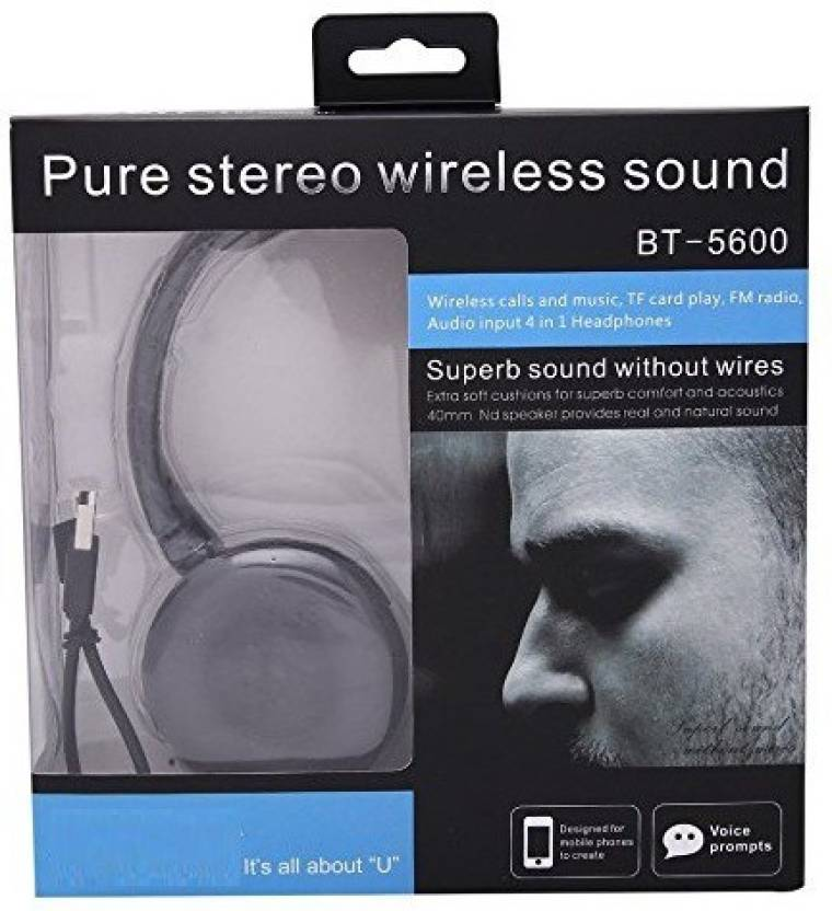 A Connect Z Ubn Bt5600 AcZ Best Quality sound Base AR-143 Bluetooth Headset  with Mic (Black 07e1c94e72