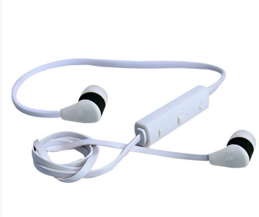 2bdbaaeff7a Chkokko BT-3 Sports Wired, Bluetooth Headset with Mic (White, In the Ear)